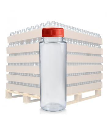 200ml Clear PET Slim Juice Bottle & 38mm T/E Lid (D)
