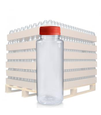 250ml Clear PET Slim Juice Bottle & 38mm T/E Lid (D)