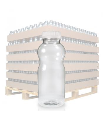 330ml Clear PET Curvy Juice Bottle & 38mm T/E Cap (D)