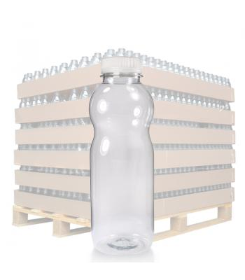 500ml Clear PET Curvy Juice Bottle & 38mm T/E Cap (D)