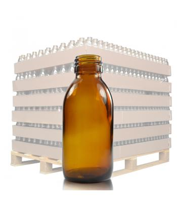 125ml Amber Glass Sirop Bottle with 28mm Neck