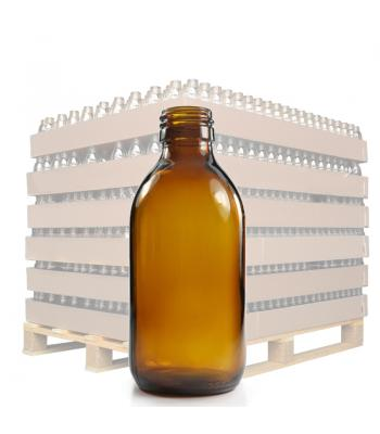 200ml Amber Glass Sirop Bottle with 28mm Neck
