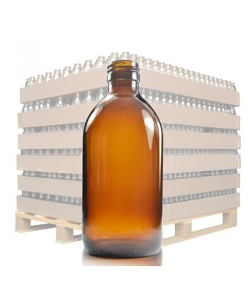 250ml Amber Glass Sirop Bottle with 28mm Neck