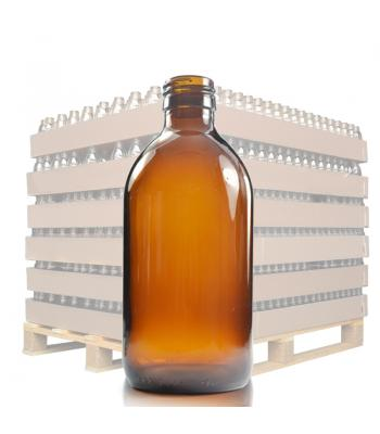 300ml Amber Glass Sirop Bottle with 28mm Neck