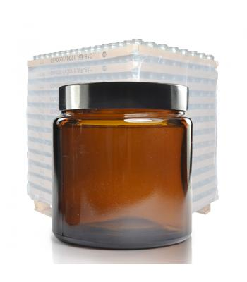 120ml Amber Glass Ointment Jar & 58mm (R3) Black Urea Cap