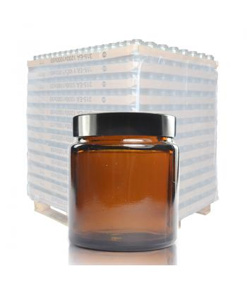 30ml Amber Glass Ointment Jar & 38mm Black Urea Cap