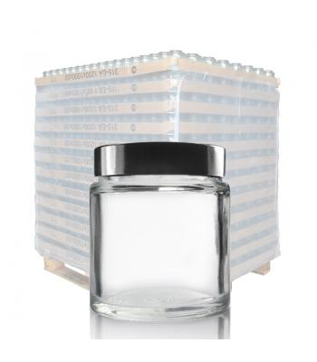 30ml Clear Glass Ointment Jar & 38mm Black Urea Cap