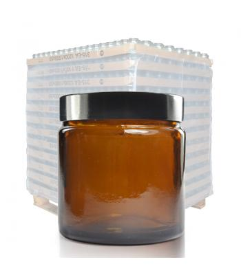 60ml Amber Glass Ointment Jar & 51mm (R3) Black Urea Cap