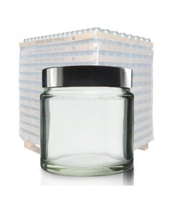 60ml Clear Glass Ointment Jar & 51mm (R3) Black Urea Cap