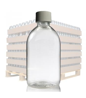 250ml Clear PET Sirop Bottle & 28mm White Cap