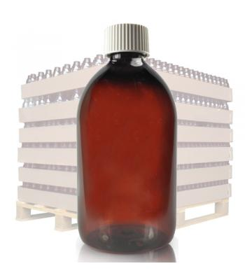 500ml Amber PET Sirop Bottle & 28mm White Cap