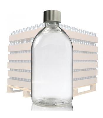 500ml Clear PET Sirop Bottle & 28mm White Cap