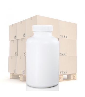 150ml White Pharmapac Container & 38mm (R3) White Standard Cap