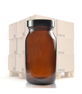 175ml Amber Glass Pharmapac Jar & 48mm Black Urea Cap