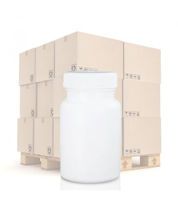 90ml White Pharmapac Container & 38mm/400 (R3) White Standard Cap