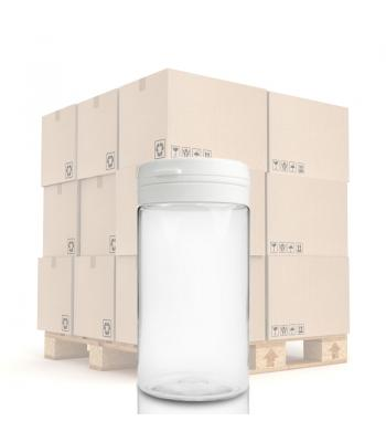 100ml PET Clear Pill Jar & 40mm T/E Snap-Hinge Cap