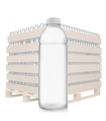 1L Clear PET Juice Bottle & 38mm T/E Lid (D)