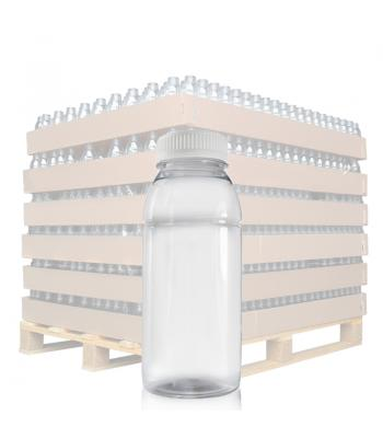 250ml Clear PET Juice Bottle & 38mm T/E Lid (D)