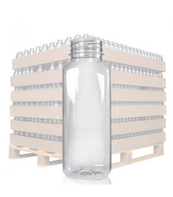 330ml Clear Square PET Juice Bottle & 38mm T/E Lid (D)