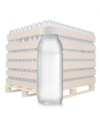 330ml Clear PET Juice Bottle & 38mm T/E Lid (D)