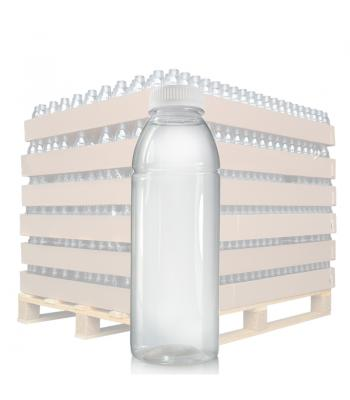 500ml Clear PET Juice Bottle & 38mm T/E Lid (D)
