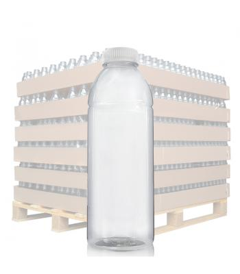 750ml Clear PET Juice Bottle & 38mm T/E Lid (D)