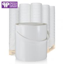 2.5L White Paint Can & White Lid (P)