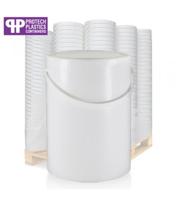 5L White Paint Can & White Lid (P)