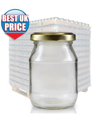 190ml Clear Glass Jar (E) & 53mm Twist Off Cap
