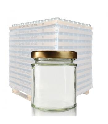 190ml Clear Glass Jar & 63mm Twist Off Lid