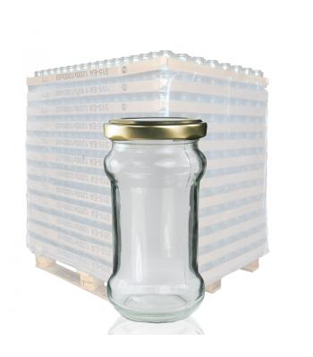 212ml Glass Chutney Jar & 58mm Twist Off Lid