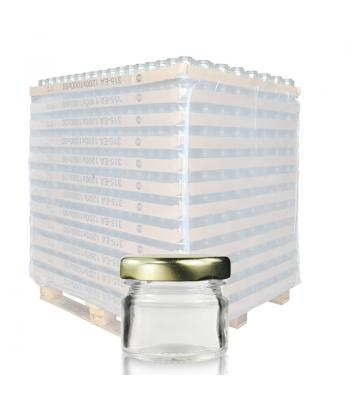 30ml (1oz) Mini Jam Jar & 43mm Twist-Off Lid