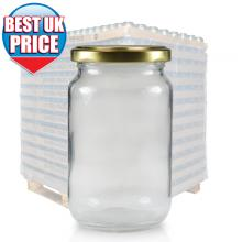 370ml Clear Glass Jar (E) & 63mm Twist Off Cap