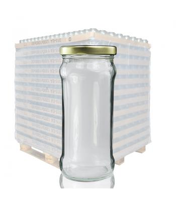 370ml Glass Chutney Jar & 63mm Twist Off Lid