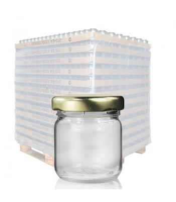 41ml (1.5oz) Mini Jam Jar & 43mm Twist-Off Lid