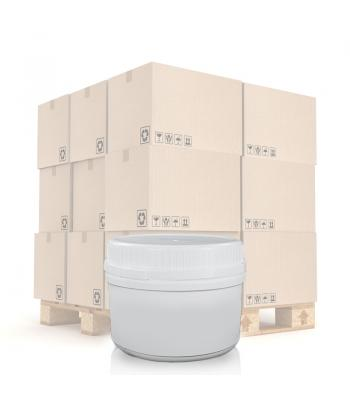 250ml UN White Round Can With T/E Lid