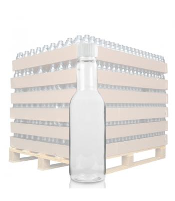 187ml Clear PET Wine/Dressings Bottle & 24mm White Ribbed Cap