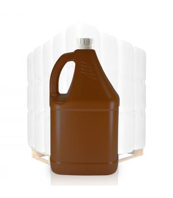 4L Brown HDPE Sauce Bottle & 38mm Cap
