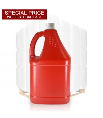 4L Red HDPE Sauce Bottle & 38mm Cap
