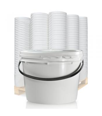 17L UN White Bucket with Plastic Handle & Lid SC1317
