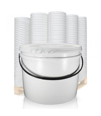 20L UN White Bucket with Plastic Handle & Lid SC1320