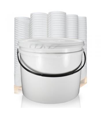 25L UN White Bucket with Plastic Handle & Lid SC1325