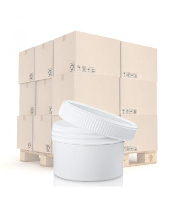 150ml White Screw Top PP Jar 70mm White PP Screw Lid