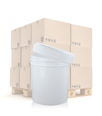 250ml White PP Screw Top Jar 70mm White PP Screw Lid
