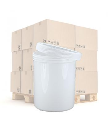 800ml White PP Screw Top Jar 100mm White PP screw Lid