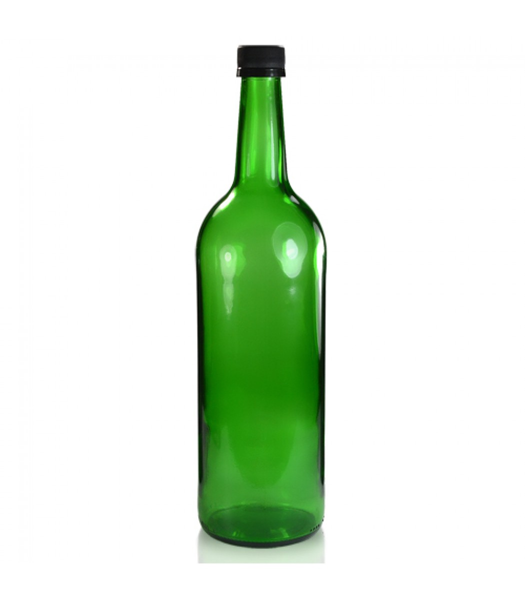 1l Green Glass Mountain Bottle Amp T E Cap