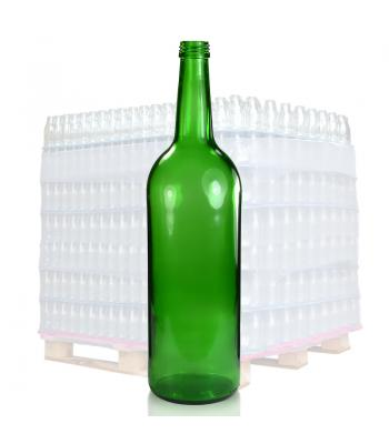 1L  Green Glass Mountain Bottle & 28mm T/E Cap
