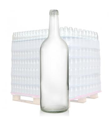 1L Clear Glass Mountain Bottle & 28mm T/E Cap