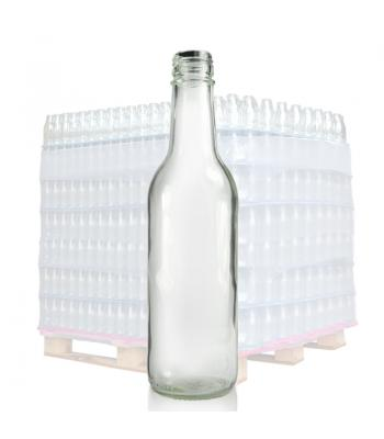 330ml Clear Glass Mountain Bottle & 28mm T/E Cap