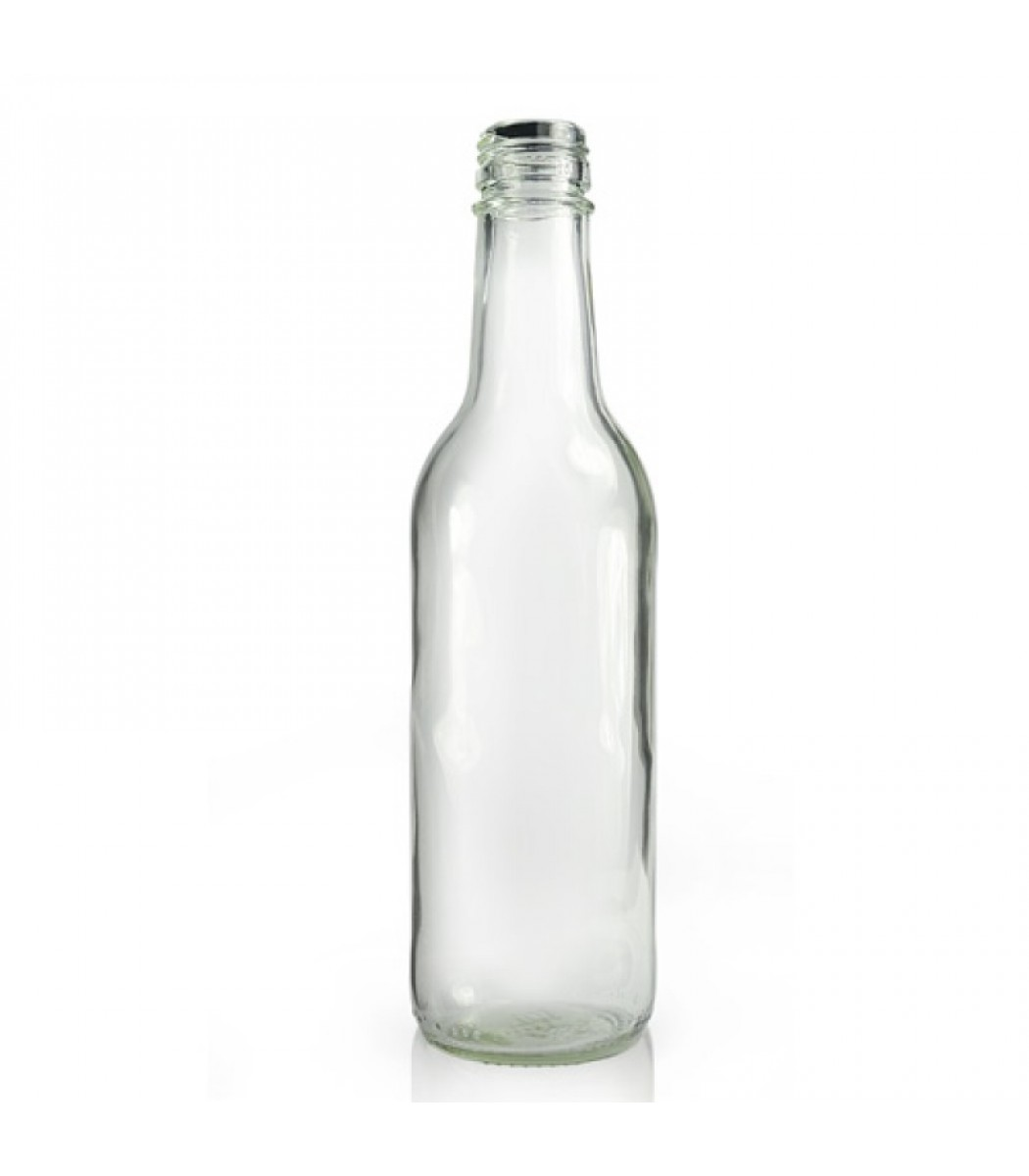 330ml Clear Glass Mountain Water Bottle